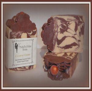 Handmade Soap PixieBubbles COCONUT CREME Coconut Oil & Greek Yogurt Shea Butter