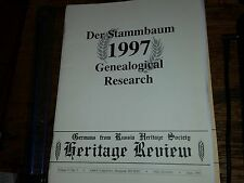 Derr Stammbaum Genealogical Research 1996 an 1997 Editions Heritage Review