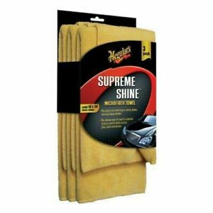 Meguiars X2020 Supreme Shine Microfiber Towels (Pack of 3)