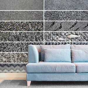 WIDE 4m, Cheap Grey Carpets, Loop, Shaggy, Twist & Saxony Pile Carpets Feltback