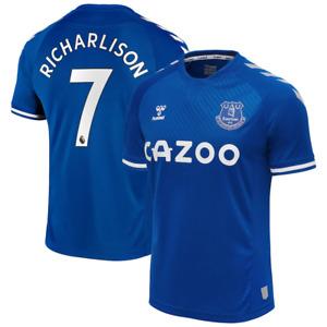 Everton 2020-21 Home Shirt Men's Hummel Football Shirt - Richarlison 7 - New