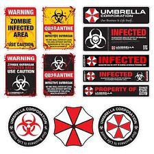 Umbrella Corporation Resident Evil Infected Zombie vinyl stickers decal