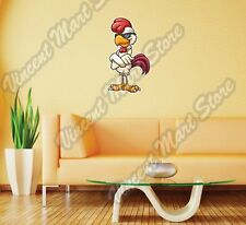 "Chicken Rooster Cock Cartoon Cool Funny Wall Sticker Room Interior Decor 15""X25"""