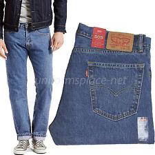 Levis Jeans 505 Mens Regular Fit Straight Leg 5 pockets Cotton Denim Jean