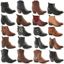 Buckle Mid Heel (1.5-3 in.) 100% Leather Boots for Women