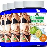 4 Garcinia Cambogia Extract 1000mg Pure 100% HCA Weight Loss Potassium Calcium