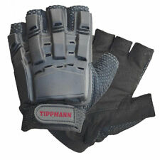 Tippmann Armored Black Tactical Half Finger Paintball Airsoft Gloves Medium