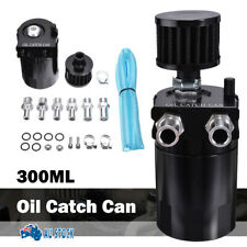 300ML Oil Catch Can Baffled Breather Petrol Diesel Turbo Tank Reservoir Filter