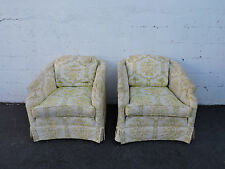 Mid Century Pair of Side by Side Chairs Snyder Furniture Loeblein Creations 7794