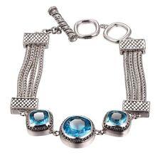 Armbänder aus Sterlingsilber mit Aquamarin Edelsteine