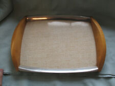 More details for vintage collectable 1950's picquot ware tea / serving tray