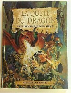 LA QUETE DU DRAGON histoire-jeu illustration livre Usborne