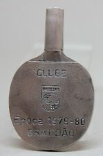 RARE Unusual 1979-80 TABLE TENNIS PADDLE SHAPE Medal/ Plaque/ CLUBE PHILIPS