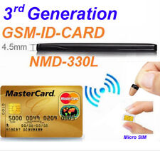 3rd GSM BOX Credit ID Card Bluetooth Micro Spy Earpiece for Covert Communication