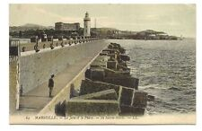 marseille la jetée et le phare   ile sainte-marie