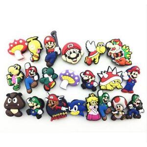 "21 Pins Clips Crocs "" Super Mario "" Décoration Chaussure Sabot"
