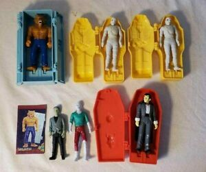 Wolfman Dracula Zombie Mummy Taco Bell Action Figures Halloween Lot of 6