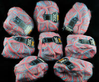 New Welcomme Permelle France Yarn LOT of 8 skeins 50gx8 MULTI-MOHAIR Vintage
