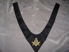 Black Masonic Square Compass Cravat Tie Embroidered Fraternity Freemason NEW!