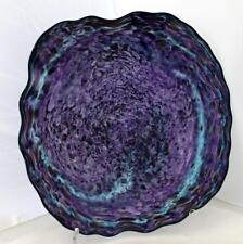 Beautiful Hand Blown Glass Art Wall Platter Bowl  7913 ONEIL