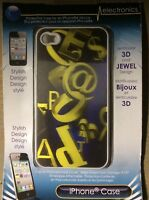 iPhone 4 Mobile Smart Phone Skin Case Protector (Letters & Numbers Design)