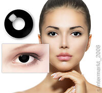Farbige Crazy Fun Karneval Halloween Kontaktlinsen Contact lenses - BLACK OUT