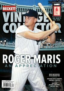 NEW Aug/Sep 2021 Beckett VINTAGE COLLECTOR  Price Guide with ROGER MARIS