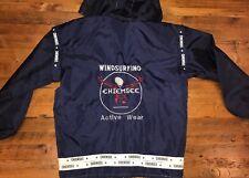 Chiemsee Mens Medium Windsurfing Windbreaker Rain Jacket Detachable Hood Blue