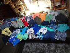 Bulk lot boys sz 00 - 0 summer clothes: Quicksilver/rashie/Pumpkin Patch/Sprout