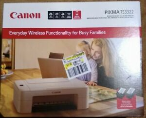 Canon Pixma TS3322 All-In-One Wireless Printer Copy Scan Ink Included FREE SHIP