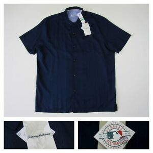 Tommy Bahama MLB Embroidered Silk Baseball Clutch Play Camp Shirt Mens Large New