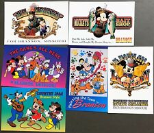 # T1376   WALT DISNEY  CHARACTERS  POSTCARD LOT, 6  DIF. CARDS,   MICKEY MOUSE