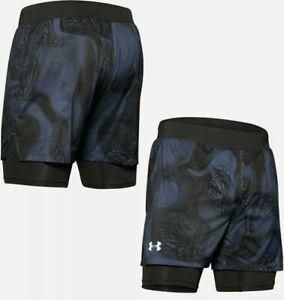 Under Armour Speedpocket Weightless 2 In 1 Running Shorts Blue Ink Size Small
