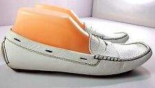 Boden Womens Driving Loafers White Leather Slip On Shoes Size 39 / 8 - 8.5