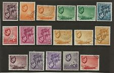 Seychelles sel. d'occasion à partir de 1938/49 GVI Set entre SG 135 A & SG 149 A FINE
