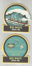 """lot of 5 Big Wave Golden Ale coasters By Kona Of Kailua-Kona, HI """"Liquid Aloha"""""""