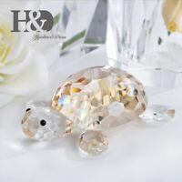 Crystal Turtle Figurines Glass Craft Paperweight Animal Collectibles Home Decor