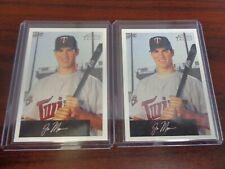 2002 Bowman Heritage Joe Mauer #238 ROOKIE CARD Lot of 2-TWINS