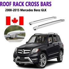 Mercedes Benz GLK 2008-2016 Raised Roof Rail  Cross Bar Crossbar Silver Lockable