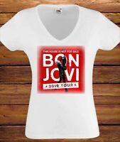 bon jovi tour 2019 WHITE WOMEN t-shirt BAND MUSIC ladies lady shirt girls