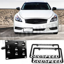 For G37 Coupe 08-14 Rev9 Front Tow License Plate Mounting Bracket + 2x Frames