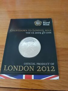 2009 Royal Mint London 2012 Olympic Games Countdown BN £5 Five Pound Coin Pack