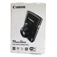 Canon PowerShot ELPH 190 IS 20 MP 10X Zoom Digital Camera WIFI (Black) - NEW