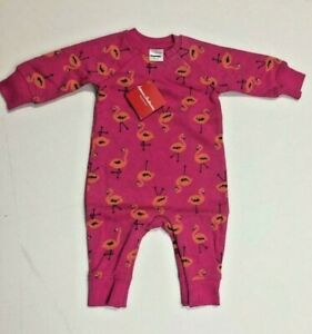 Hanna Andersson baby girl coverall sleepsuit footsie 12 18 m 3 y pink swan