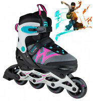 Skatelife Girls Inline Skates Junior Motion Adjustable Rollerskates