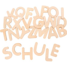 Holzbuchstaben Set 162 pcs bastelbuchstaben Alphabet bois lettres pour bricolage