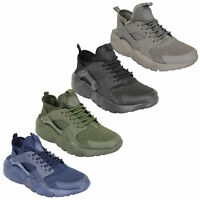 Mens Trainers Lace Up Active Running Jogging Gym Comfy Shoes Sports Casual New
