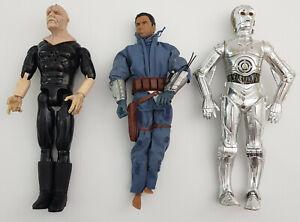 3 x 12'' Vintage Star Wars Figurines 2 x Elec. Talking TC-14 Emperor Palpatine