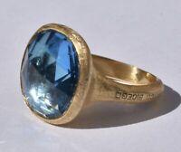 Marco Bicego Jaipur Blue Topaz Ring 18k