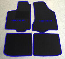 Autoteppich Fußmatten für Seat Ibiza 6K schwarz blau 1993'-2002'  4teilig Neu